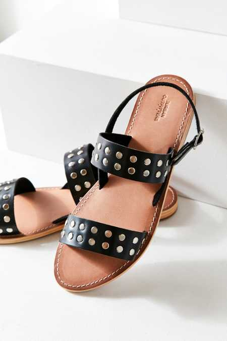 Penny Studded Leather Sandal