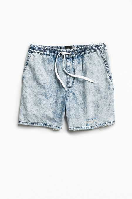 BDG Acid Wash Denim Volley Short
