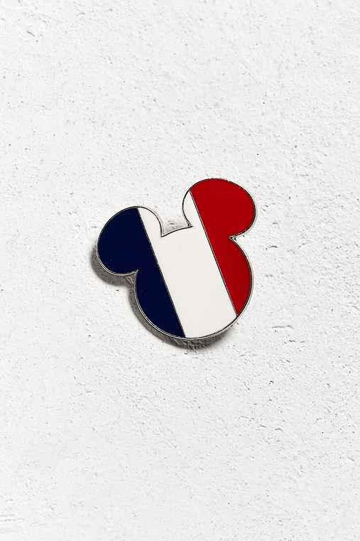 Vintage Paris Mickey Pin,WHITE,ONE SIZE