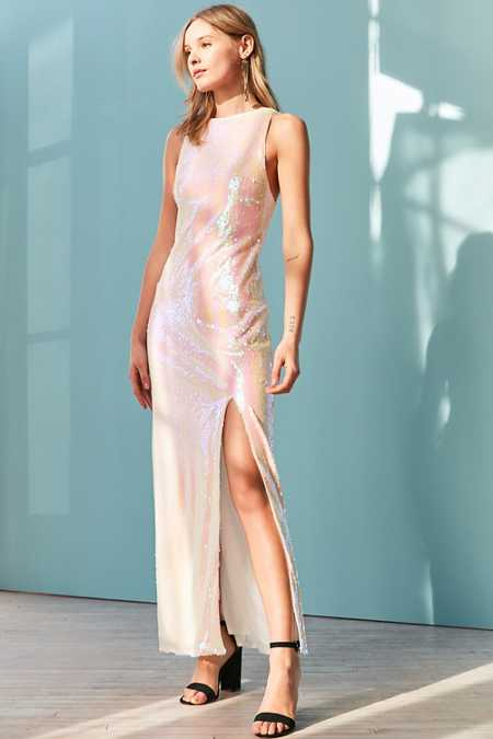 Glamorous Iridescent Sequin Maxi Dress