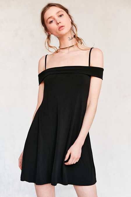 Motel Widuri Cold Shoulder Slip Mini Dress