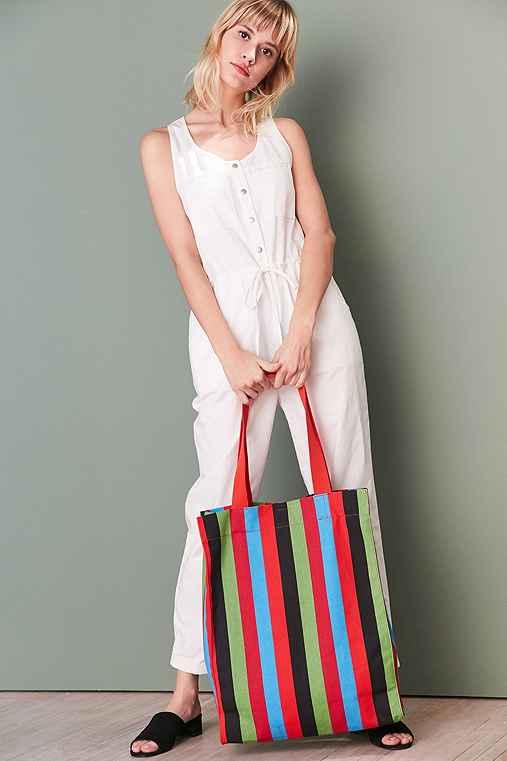 Alison Striped Tote Bag,MULTI,ONE SIZE