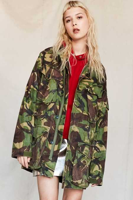 Vintage Woodland Camo Surplus Jacket