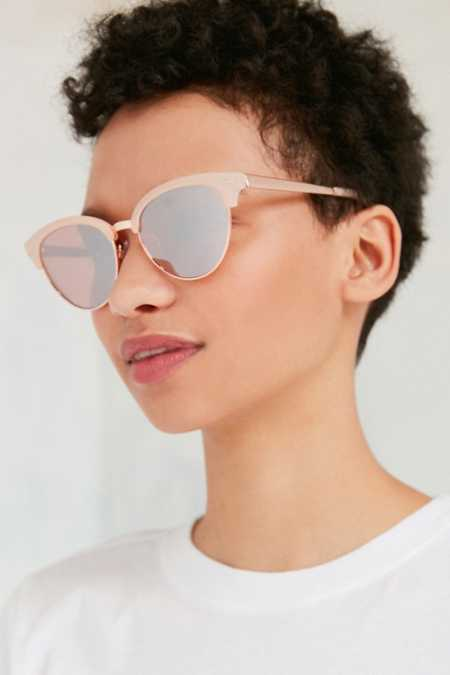 Havana Slim Cat-Eye Sunglasses