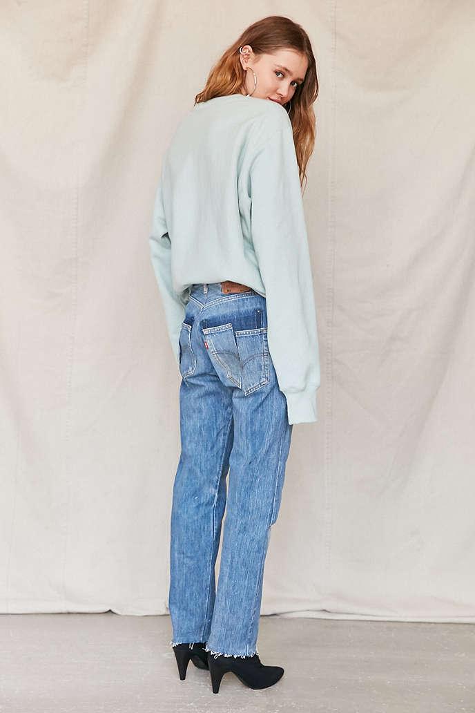blue white jeans - Jean Yu Beauty