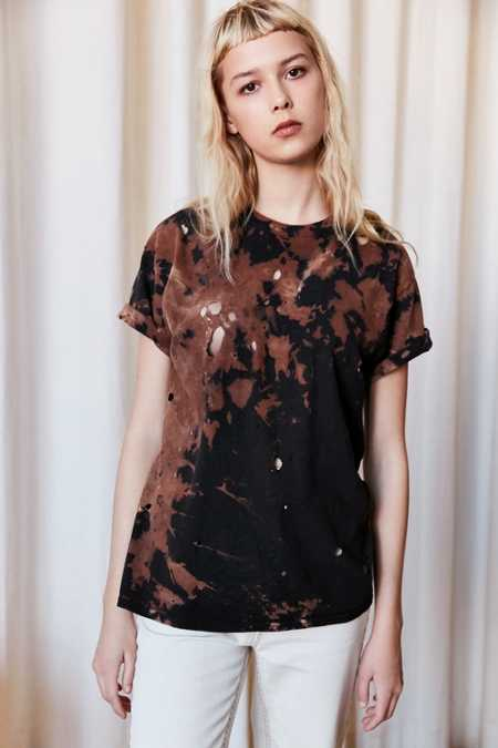 Urban Renewal Remade Destroyed Bleached Short-Sleeved Tee