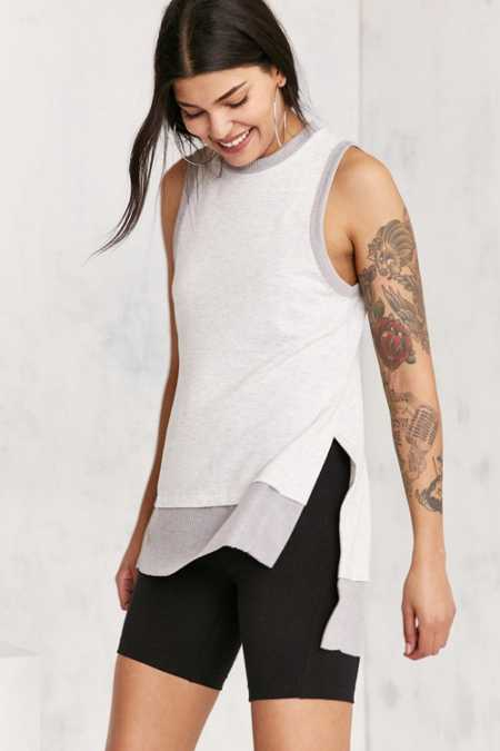 Silence + Noise Kelly High/Low Tunic Tank Top