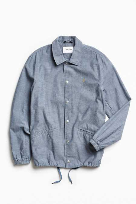 Farah Holryd Denim Coach Jacket