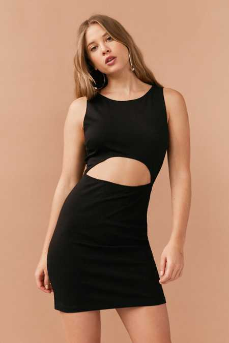 Silence + Noise Cutout Ponte Mini Dress
