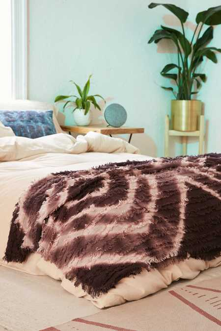 Rosa Eyelash Fringe Throw Blanket