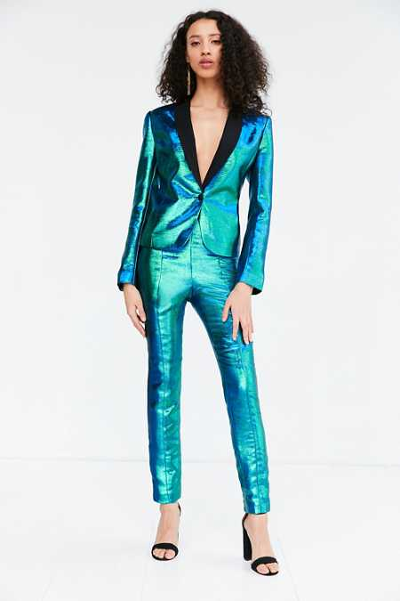 Silence + Noise Sirena Iridescent Suit Pant