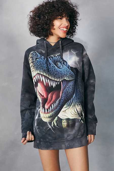 The Mountain T-Rex Tie-Dye Hoodie Sweatshirt
