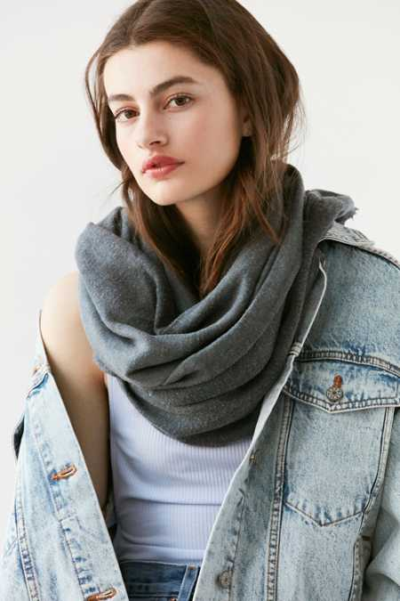 Soft Acid Wash Blanket Scarf