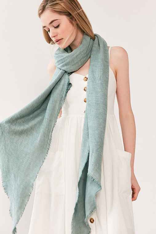 Soft Acid Wash Blanket Scarf,SKY,ONE SIZE