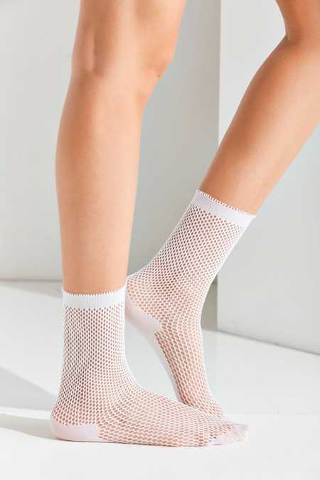 Out From Under Fishnet Crew Sock
