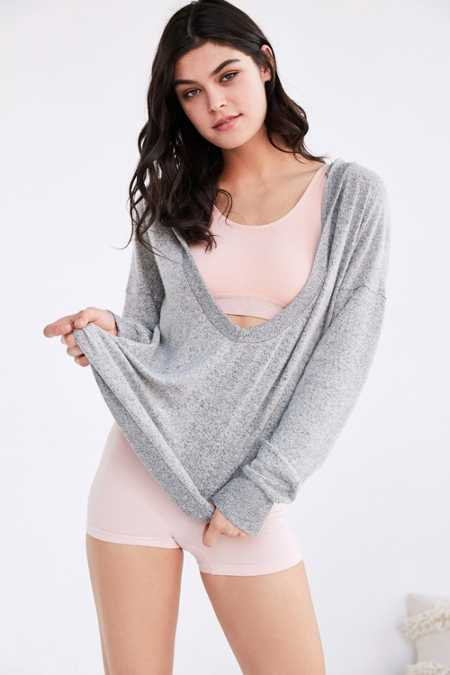 Out From Under Cozy Plunging Hoodie Sweatshirt