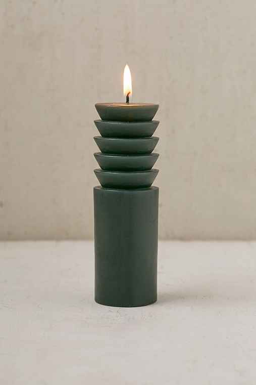 Areaware Pillar Candle - Medium,FOREST,ONE SIZE