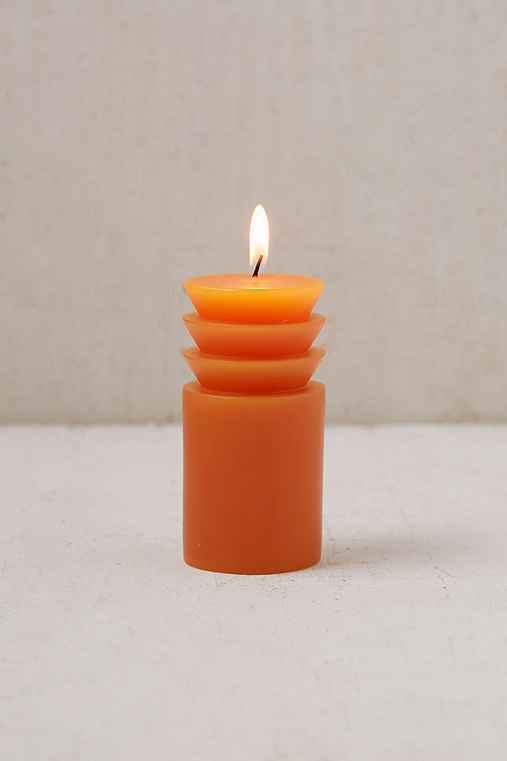 Areaware Pillar Candle - Small,TERRACOTTA,ONE SIZE