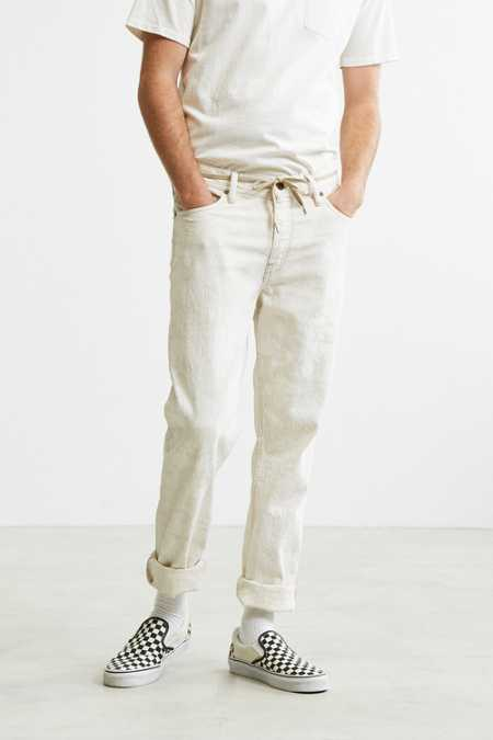 BDG White #6 Wash Slim Jean