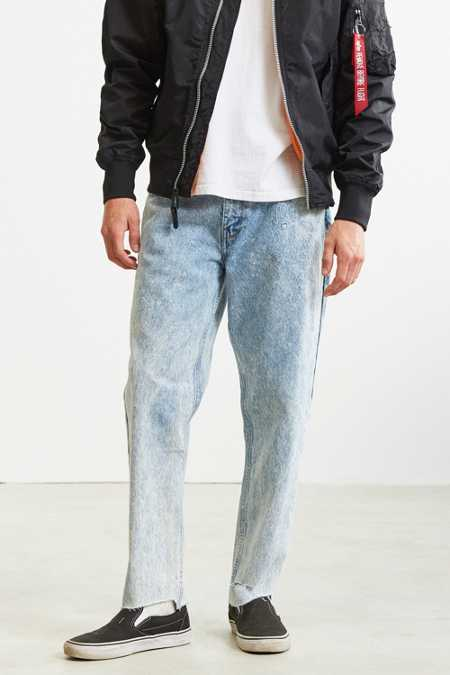 BDG Embroidered Acid Wash Slim Jean