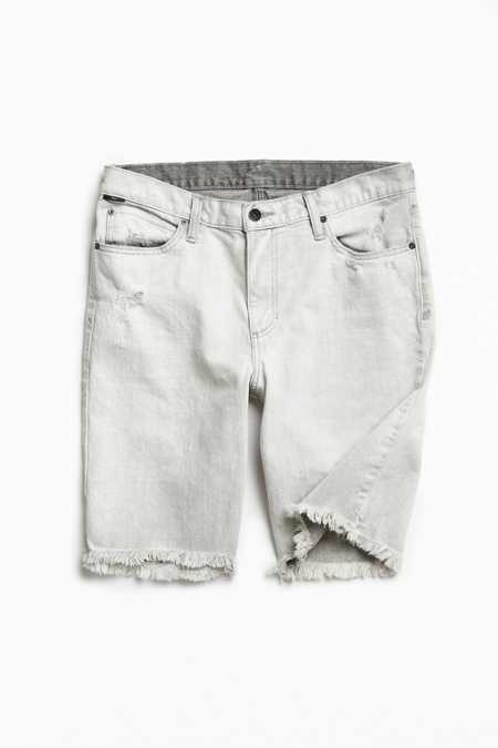 BDG Destructed Bleached Grey Denim Short