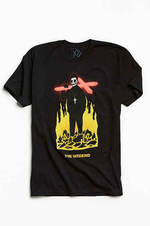 The Weeknd Crucifix Tee,BLACK,XL