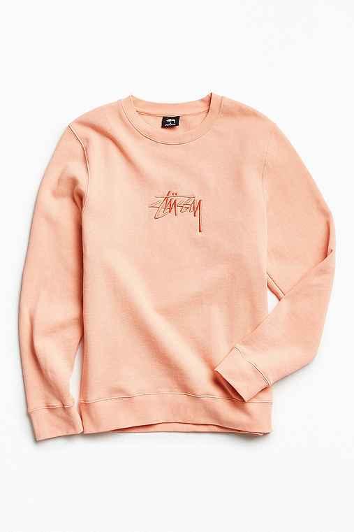 Stussy New Stock Crew Neck Sweatshirt,PINK,XL