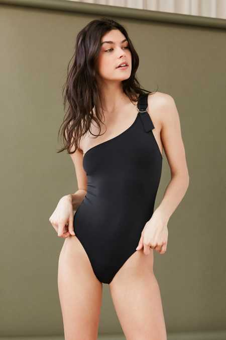 Out From Under One-Shoulder D-Ring Bodysuit