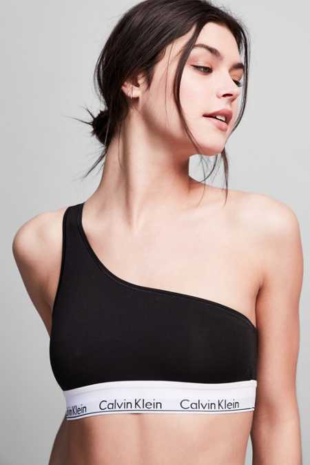 Calvin Klein Modern Cotton One Shoulder Bralette
