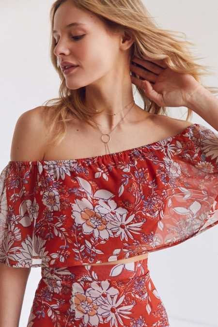 BOG Collective Off-The-Shoulder Ruffle Top