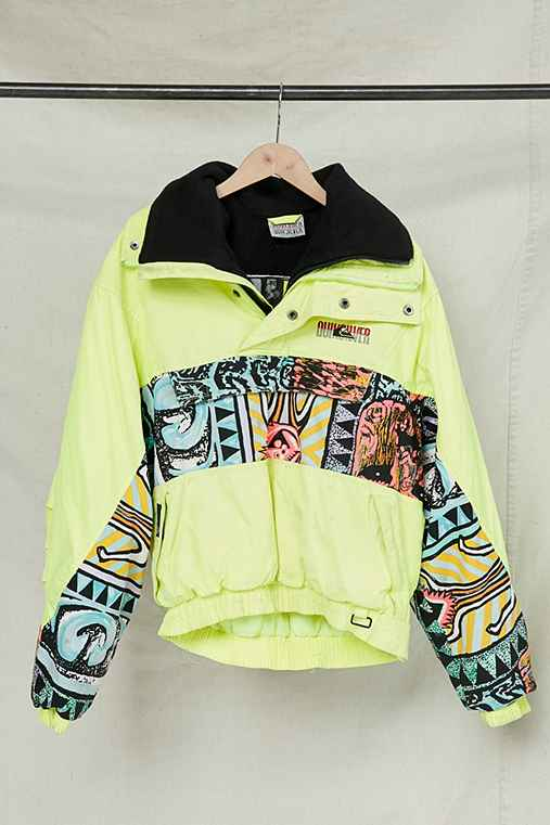 Vintage Quicksilver Puffer Pullover Jacket,ASSORTED,ONE SIZE