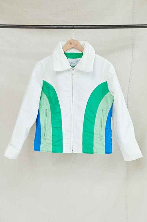 Vintage White Puffer Jacket,ASSORTED,ONE SIZE