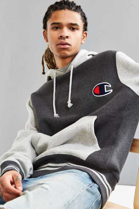 Champion Colorblock Reverse Weave Hoodie Sweatshirt