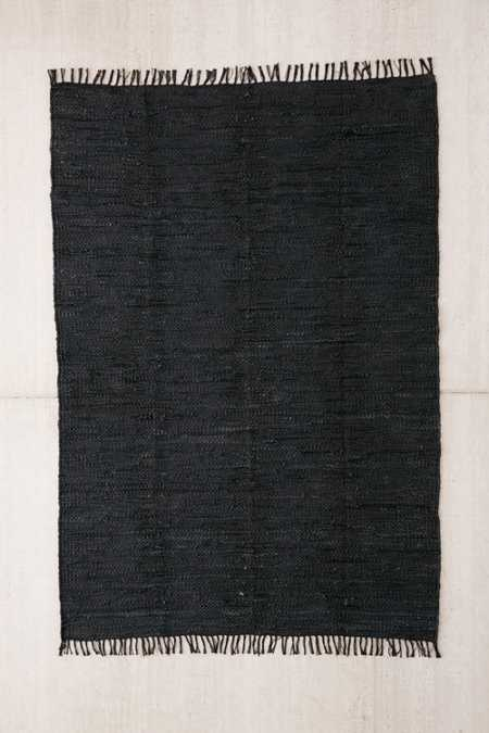 Moore Woven Leather Rug