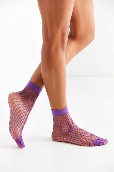 Out From Under Wide Fishnet Crew Sock