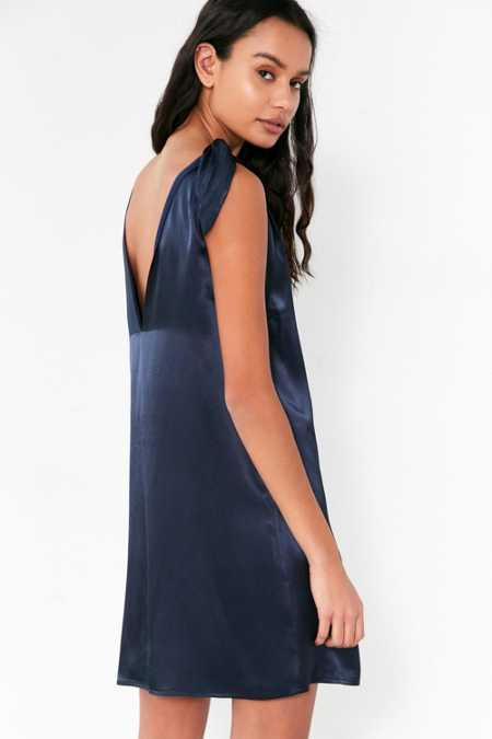 Kimchi Blue Tie-Shoulder Silky Mini Dress