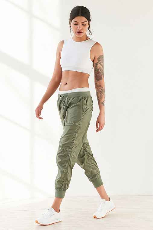 Without Walls Jane Sheer Tech Parachute Pant,GREEN,L