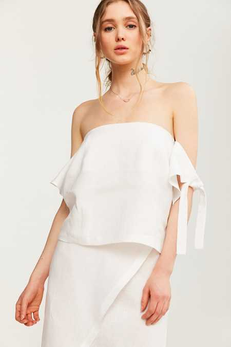 SIR The Label Bella Tie-Sleeve Off-The-Shoulder Top