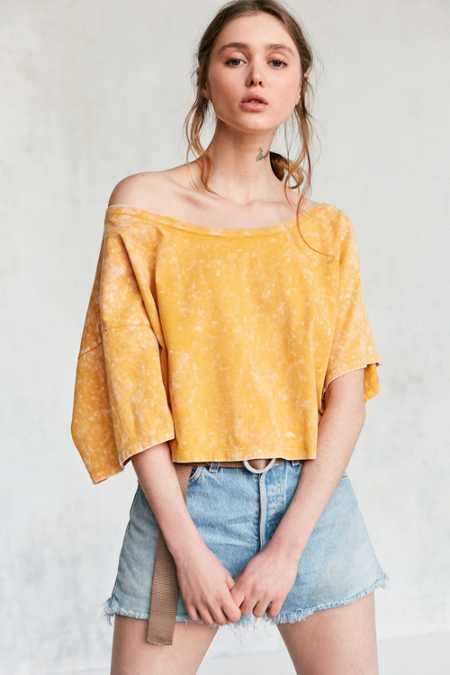 Silence + Noise Asymmetrical Off-The-Shoulder Tee