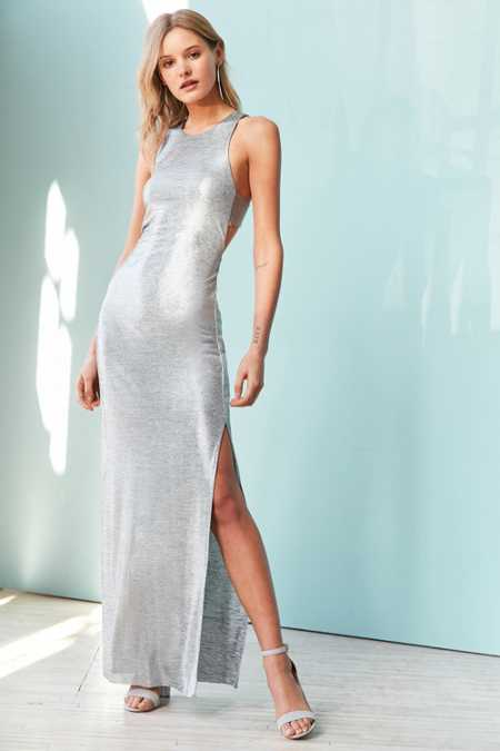 Silence Noise Stingray Metallic Maxi Dress