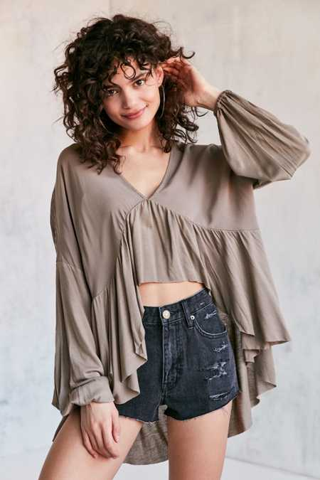 Ecote Greenly High/Low Blouse