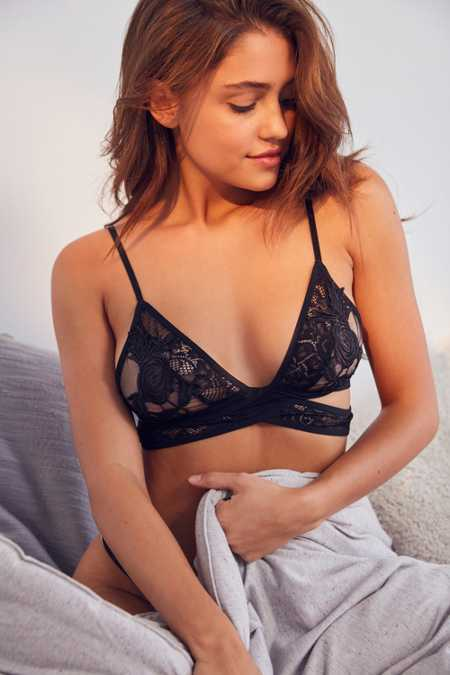 Out From Under Wrap Applique Bra