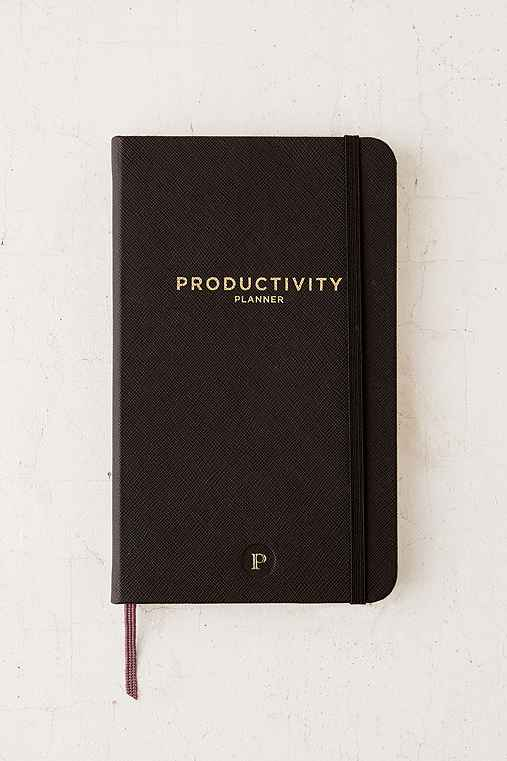 Productivity Plan Journal,BLACK,ONE SIZE
