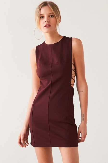 Silence + Noise Lexie Crisscross-Side Bodycon Mini Dress