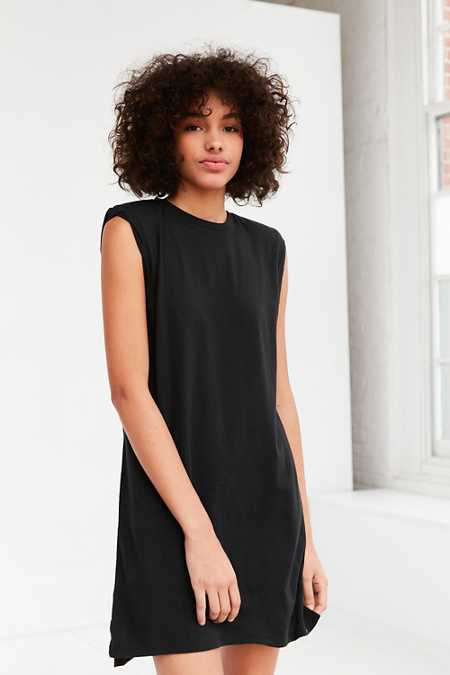Silence + Noise Rolled Cuff Muscle Tee Dress