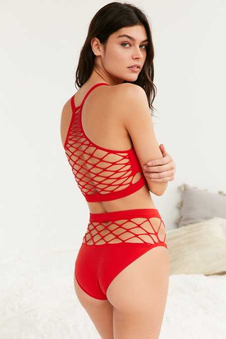 Out From Under Exploded Fishnet High-Waisted Panty