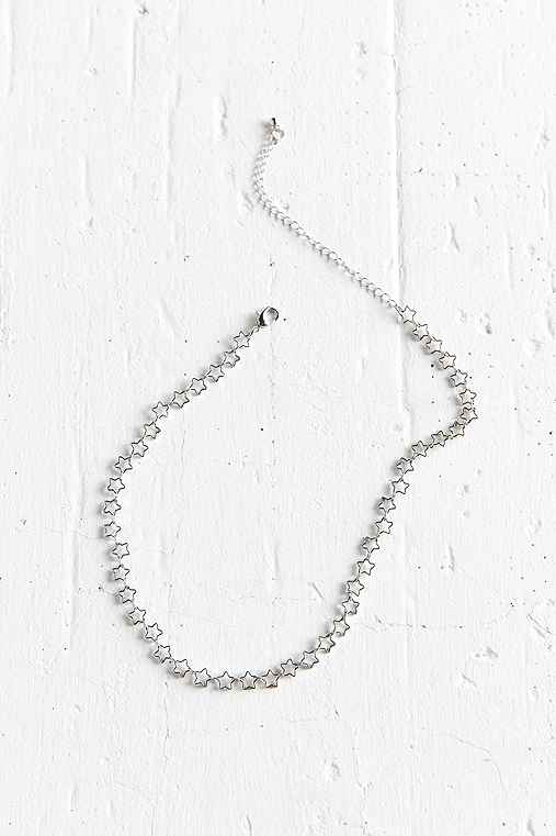Brandy Icon Choker Necklace,SILVER,ONE SIZE