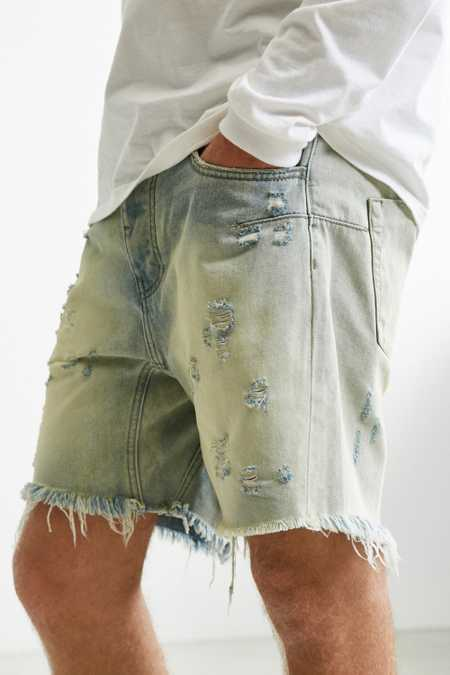 One Teaspoon Old Gold Destructed Denim Short