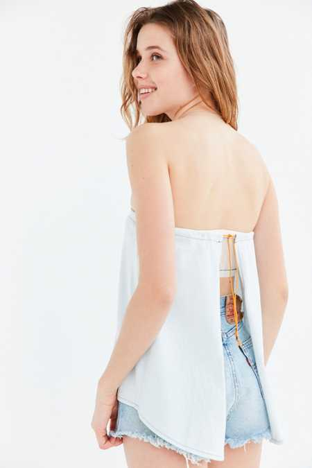 Silence + Noise Dev Apron Strapless Top