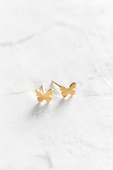 Seoul Little 24k Gold-Plated Butterfly Post Earring